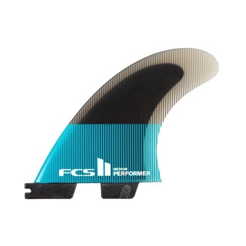 FCSII Performer PC Medium Teal/Black Quad Retail Fins