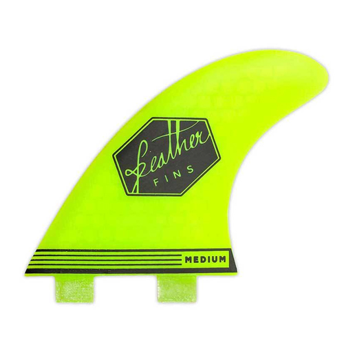 Feather Fins Ultralight Dual Tab Yellow Large