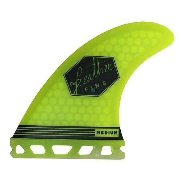 Feather Fins Quad Ultralight Single Tab Yellow