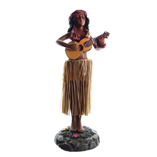 HAWAII POPPETJE Dashboard Hula Girl Ukelele