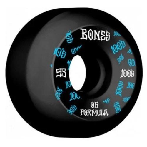Bones 100's Sidecut Wheels Black 100a 53mm