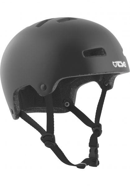 TSG Helm Nipper Maxi Solid Color Kids Satin Black