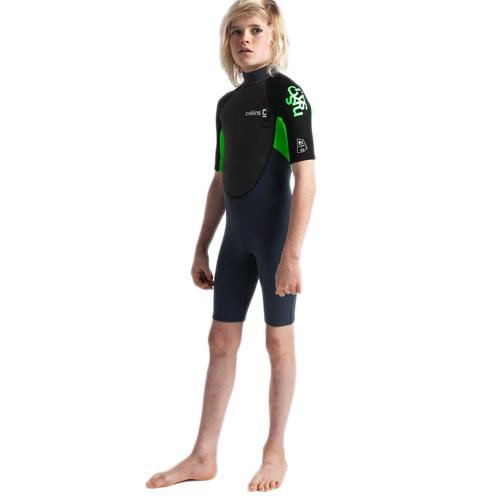 C-Skins Element 3X2 Junior Shorti Graphite Flo Green