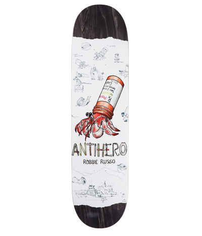 Anti Hero Russo Recycling Skateboard Deck White 8.25