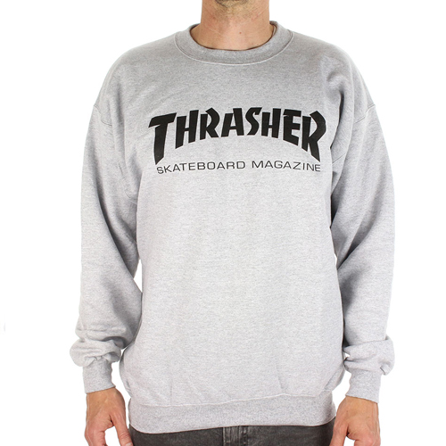 THRASHER TRUI Skate Mag Crew Sweat Grey
