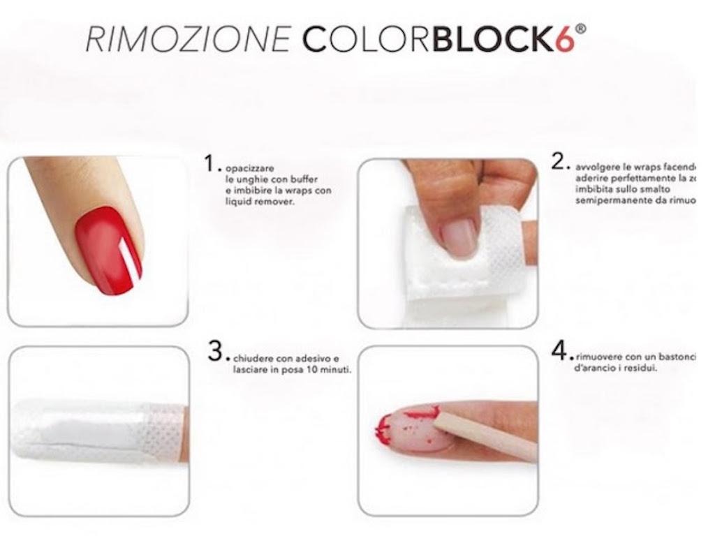 rimozione colorblock
