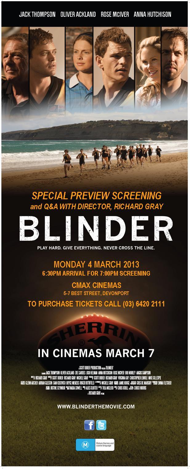 Blinder - Preview Screening Invite - Devonport