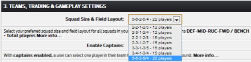Elite - squad settings