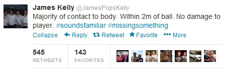 James Kelly Tweet