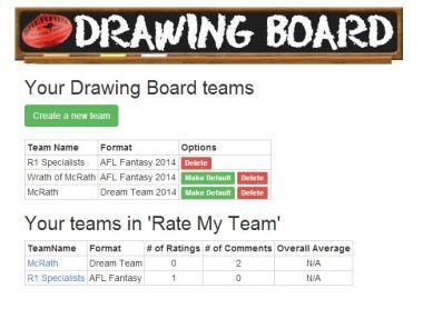 My Teams screen