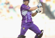 MELBOURNE, AUSTRALIA - DECEMBER 15:  Tim Paine of the Hurricanes bats during the Big Bash League match  between the Melbourne Stars and the Hobart Hurricanes at the Melbourne Cricket Ground on December 15, 2012 in Melbourne, Australia.  (Photo by Scott Barbour/Getty Images)