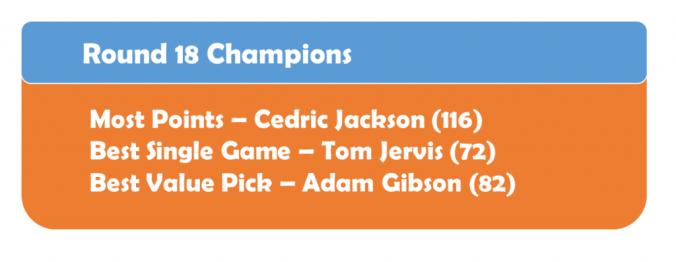 Round 18 Champions
