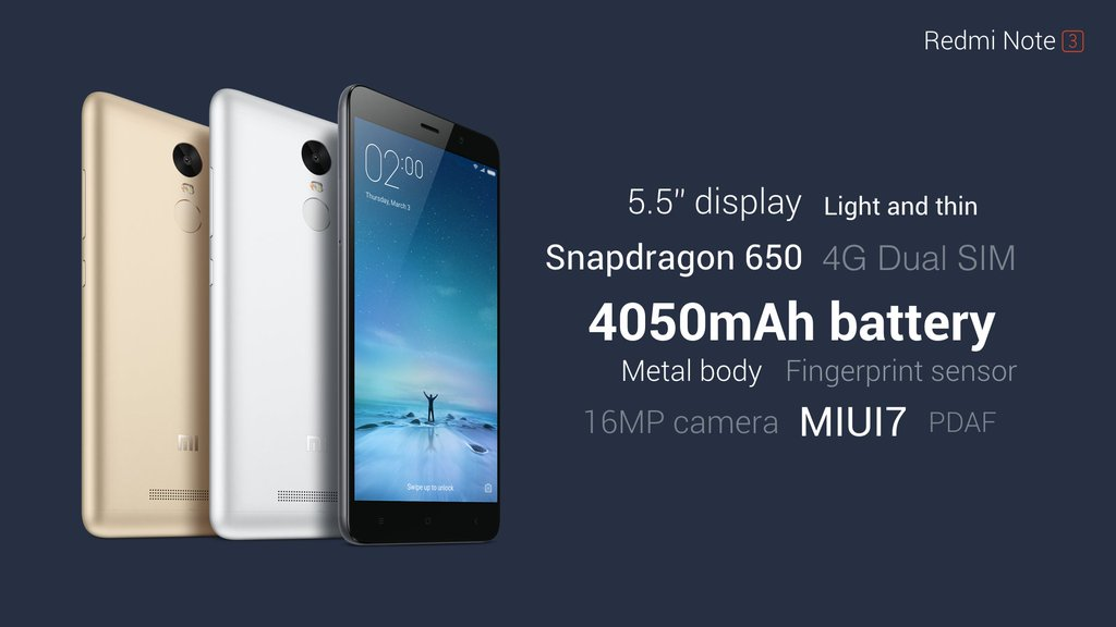 Red mi Note 3 Specifications & Pics