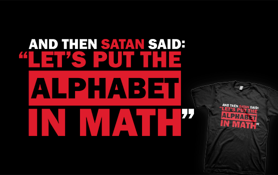 Alphabet in Math T-Shirt