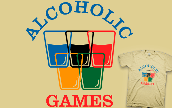Alcoholic Games T-shirt