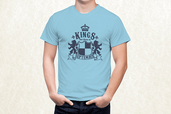 Kings are born in September T-shirt