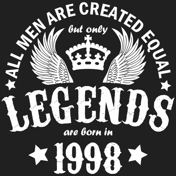 All Men are Created Equal But Only Legends are Born in 1998 T-shirt