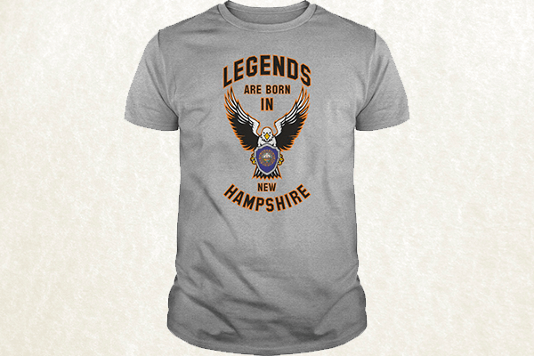 Legends are born in New Hampshire T-shirt