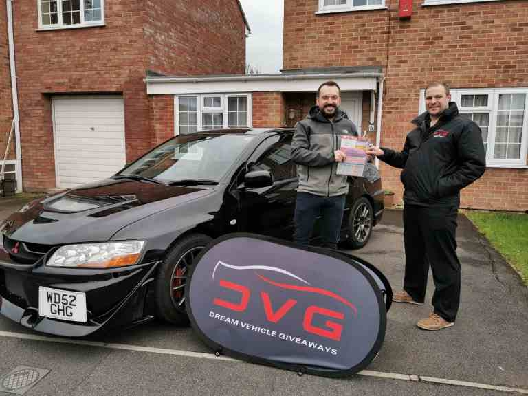Murray Storm from Glasgow and winner of our Mitsubishi Evo 8 with ticket No. 1557 on 09.03.20​