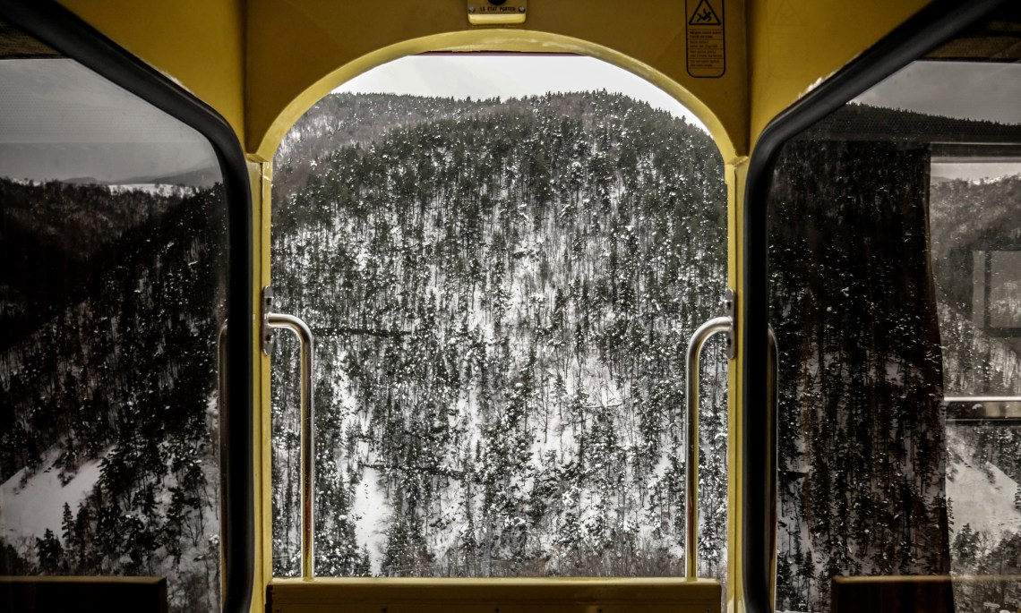 FRANCE - VILLEFRANCHE DE CONFLENT - LE TRAIN JAUNE