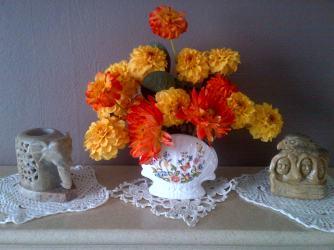 Oranges and Lemons Dahlias