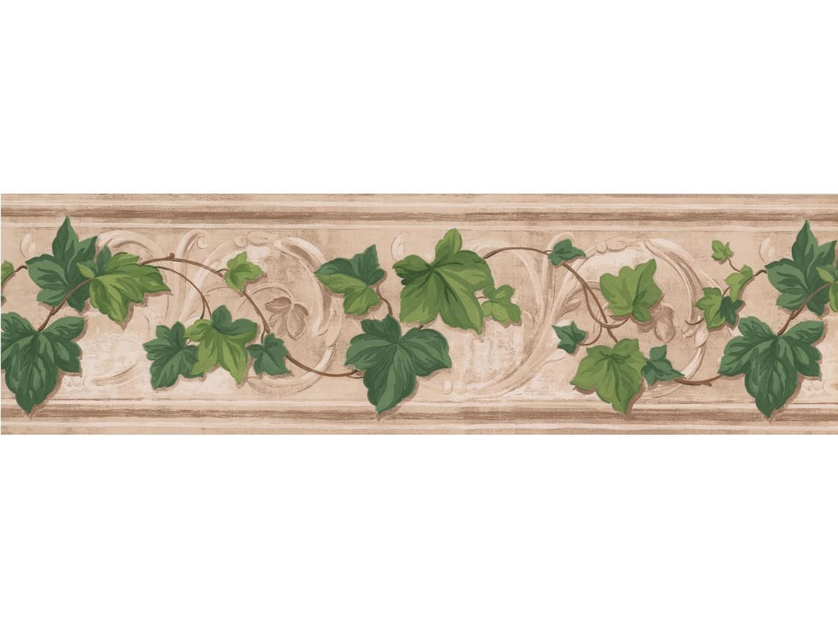 Fresh Green Leaves Wallpaper Border