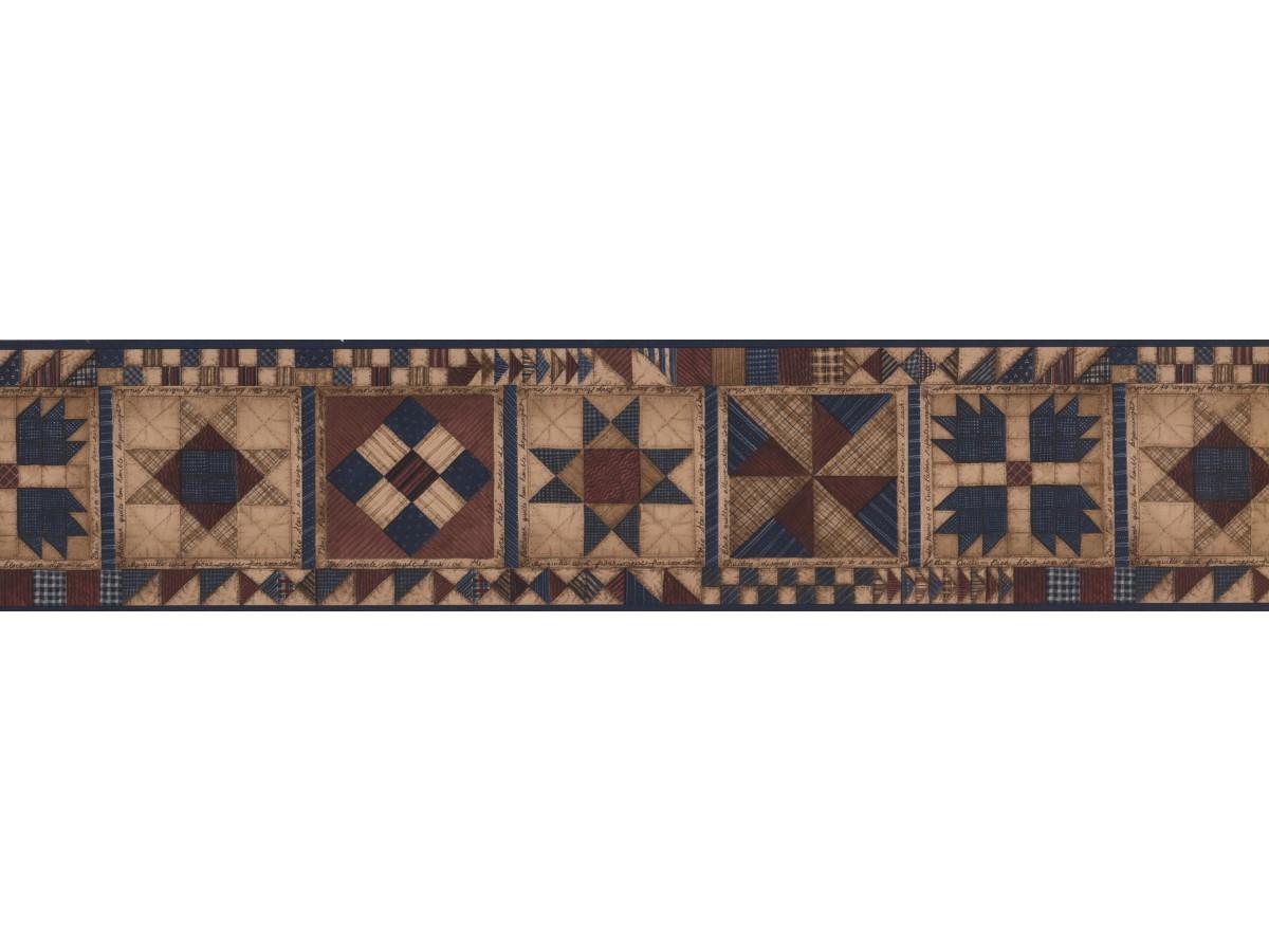 Checked Square Desin Pattern Wallpaper Border