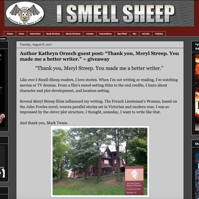 I Smell Sheep blog post: Thank You, Meryl Streep.
