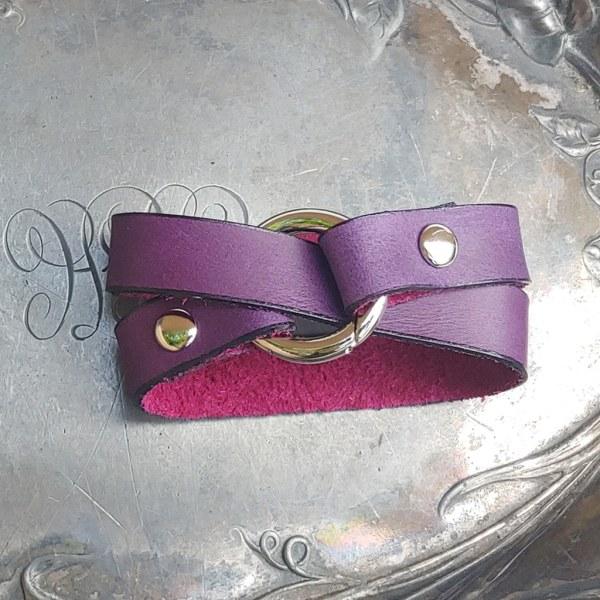 JUL Tiny Ring Shawl Cuff or Bracelet, Dream Weaver Yarns LLC
