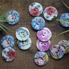 Ceramic Floral Buttons, Dream Weaver Yarns LLC