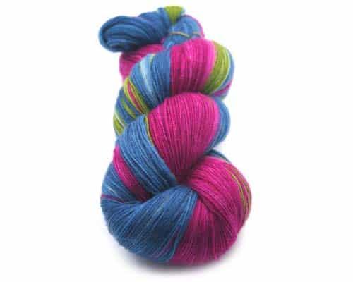 Lana Grossa Cool Wool Lace Hand Dyed Crochet Pullover Kit, Dream Weaver Yarns LLC