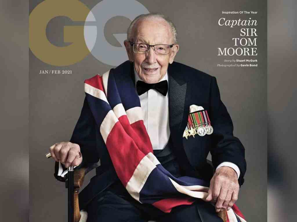 Captain Sir Tom Moore on GQ