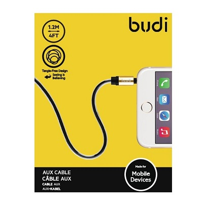 Budi AUX Braided Cable With Metal Shell - M8J129