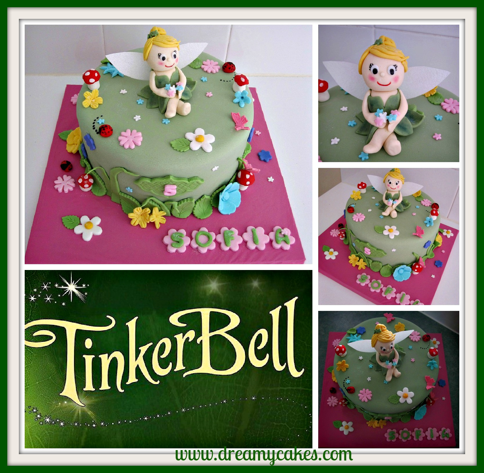 Tinkerbell Birthday Cake 3 Cute Tinkerbell Party Ideas