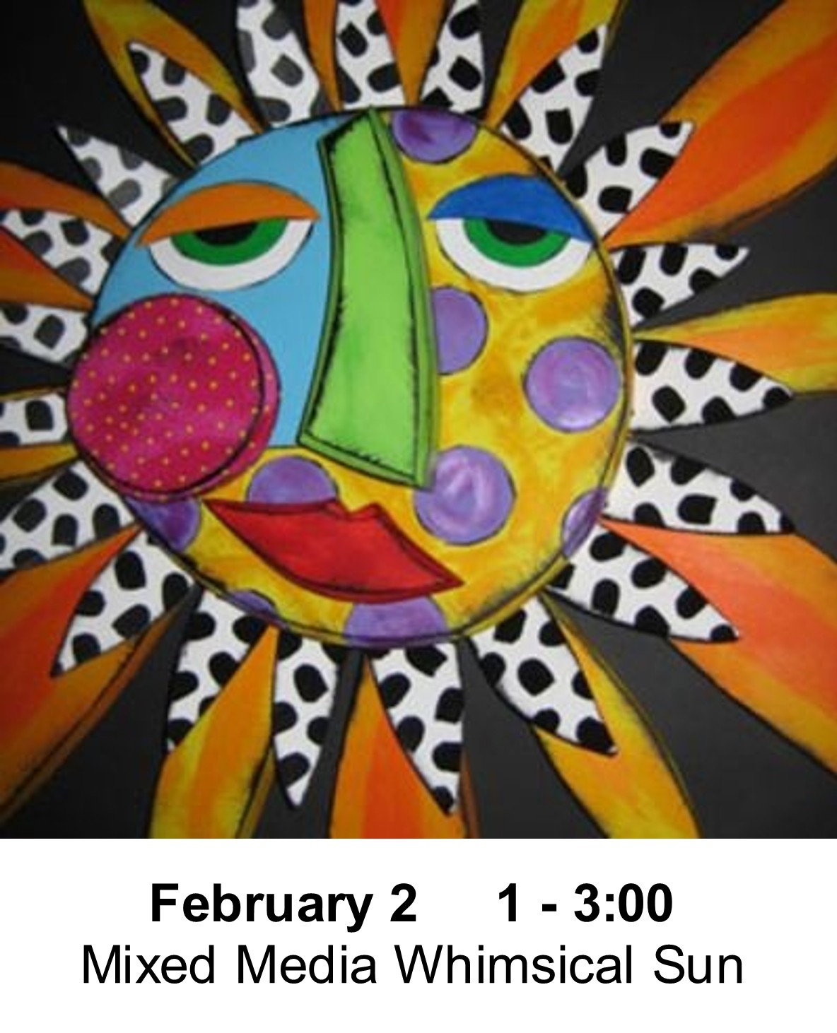 Winter Break Kids Art Class February 2 From 1 3 P M