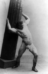 A very famous strongman from the old days