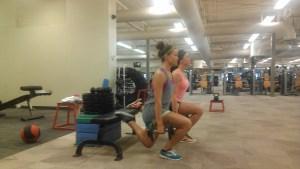 Rear food elevated split squat throwback