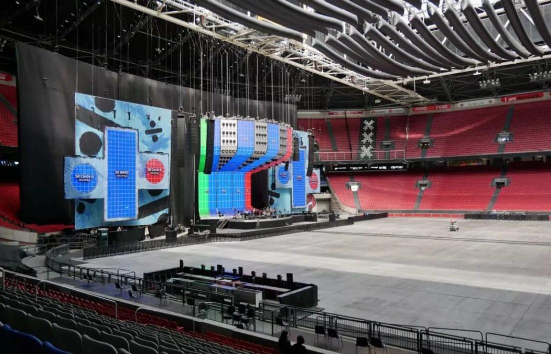 Cruijff Arena Bühne für Ed Sheeran