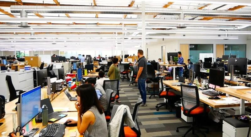 Mitarbeiter im Byton-Büro in Santa Clara