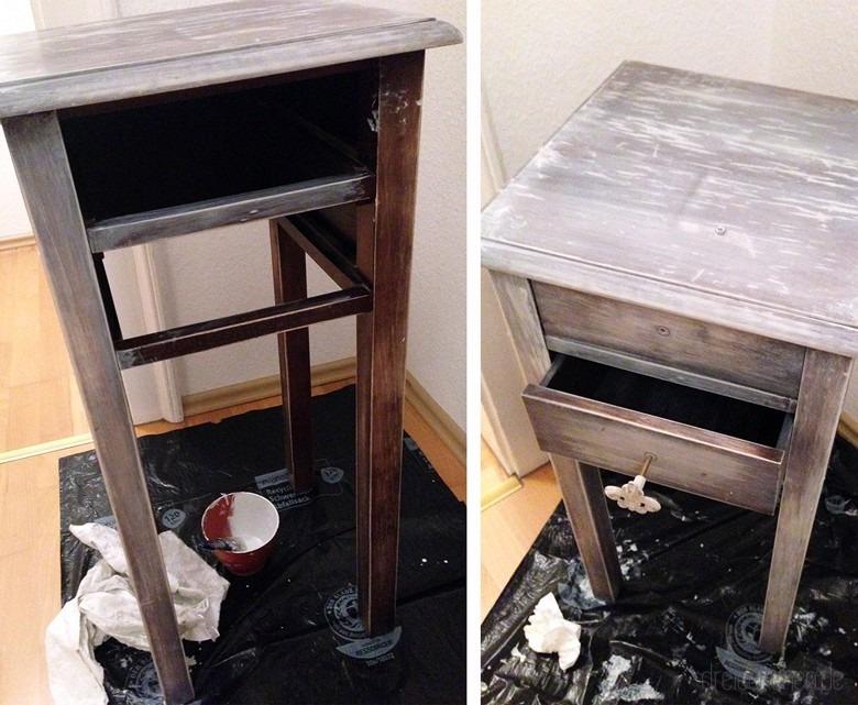 weiße Vintage-Möbel dank Weiterwash-Technik