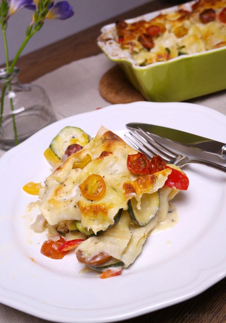 gesund und lecker - die vegetarische Gemüse Lasagne