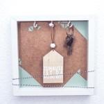 Geschenk Zum Einzug Bilderrahmen Schlusselkasten Dreimalanders Werbung Dreieckchen