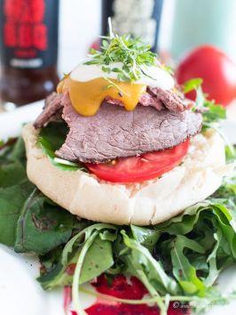 dreiraumhaus löwensenf steakburger mit spargel