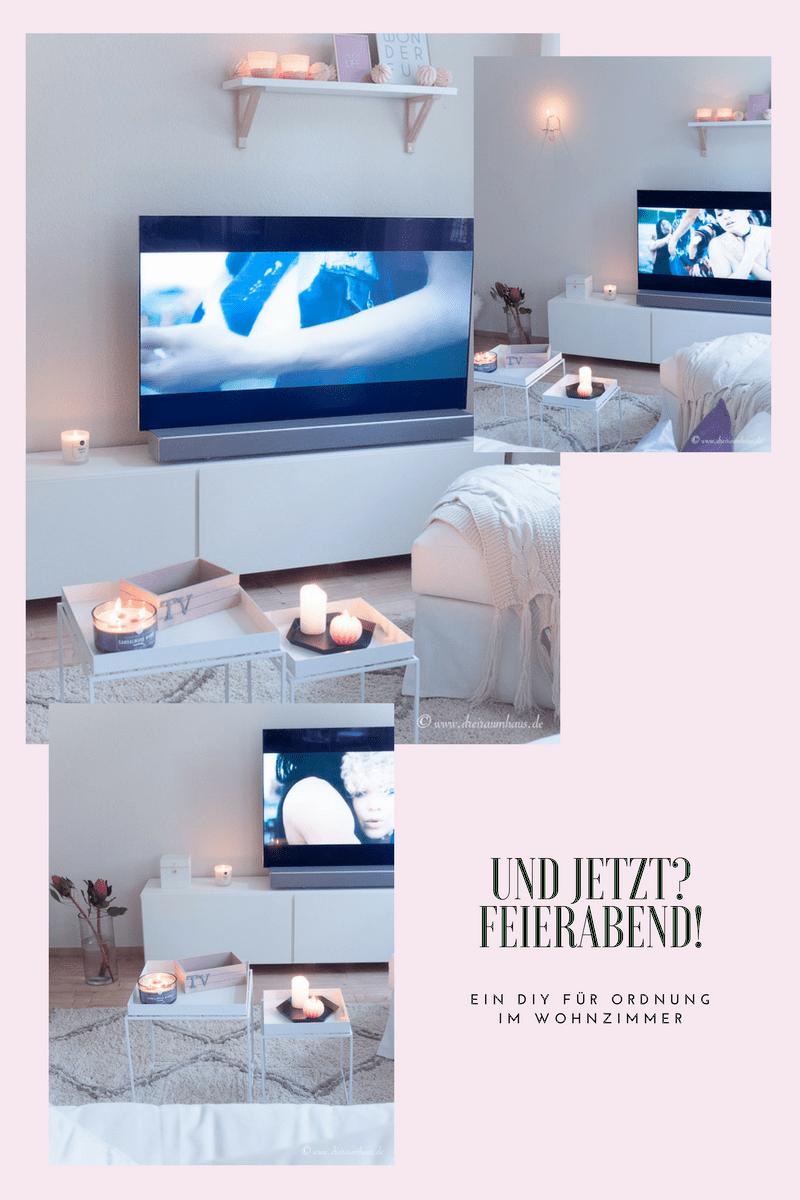 Ein 20 Minuten DIY für eine hübsche Aufbewahrung auf dem Wohnzimmertisch und die schönste Fernbedienung der Welt! Samsung Q7F TV!