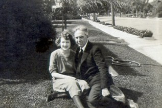 with Helen Richardson in Hollywood, 1920-21