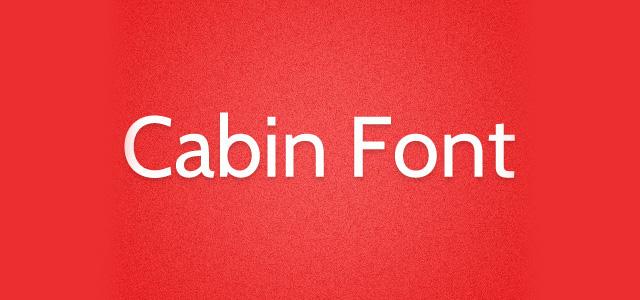 cabin-fonts