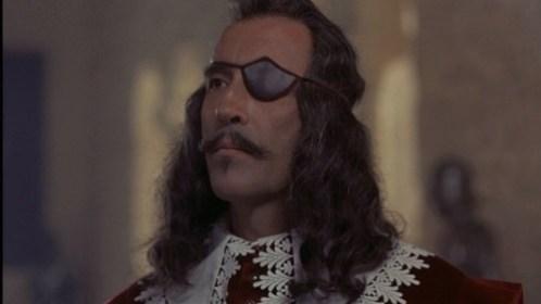 Le comte de Rochefort (Christopher Lee) dans Les trois mousquetaires (1973)
