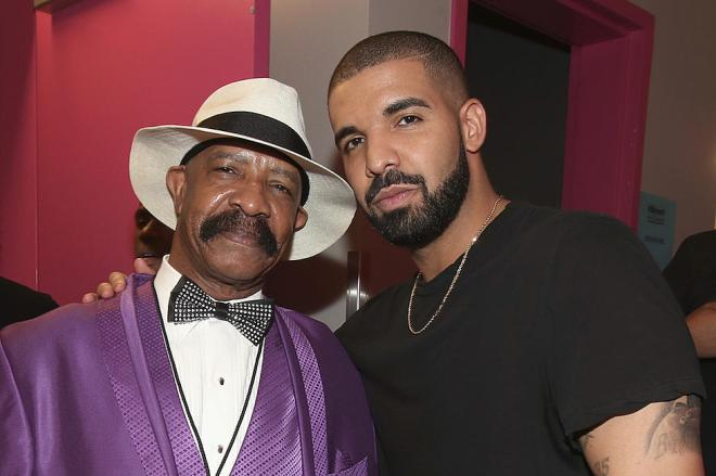 Drake and father Dennis Graham