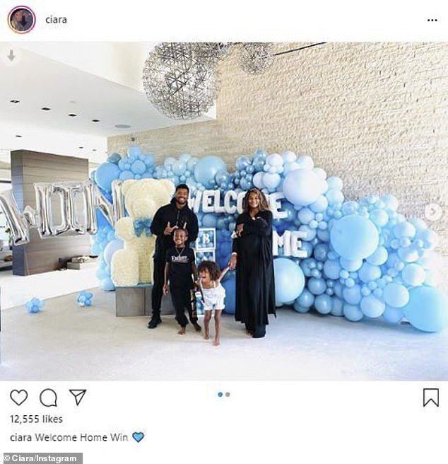 ciara and russell welcome baby Win home