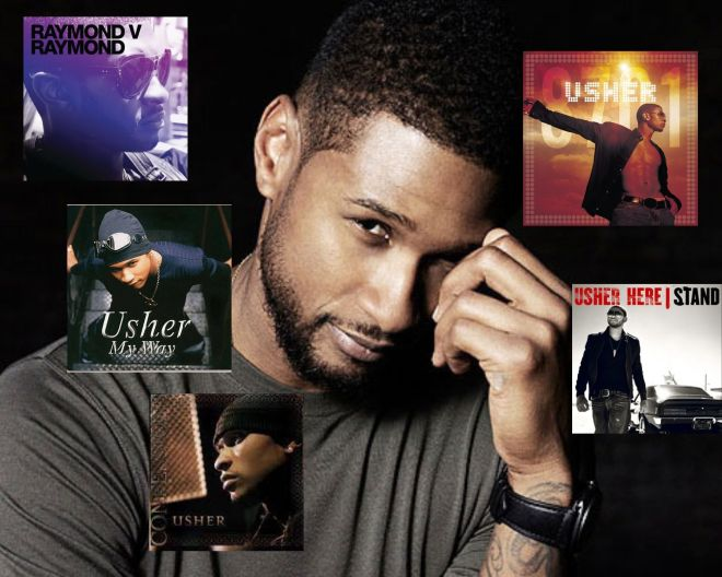 usher albums with no. 1 hit songs